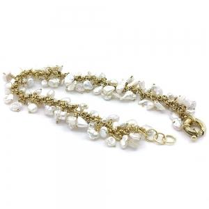 Zlatý náramek perla