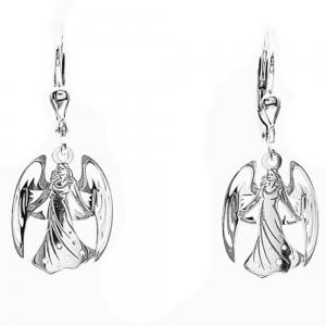 Stříbrné náušnice anděl