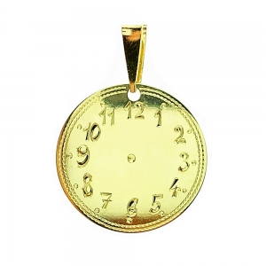 Zlatý přívěsek křtící hodiny