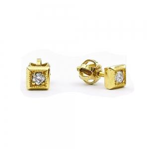 Zlaté náušnice brilianty diamanty