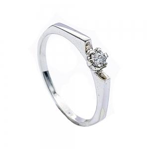 Zlatý prsten briliant diamant