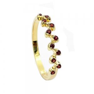 Zlatý prsten český granát přírodní