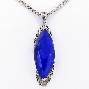 Stříbrný náhrdelník lapis lazuli