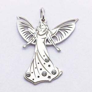 Stříbrný přívěsek anděl zirkon